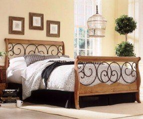 Wood And Wrought Iron Bedroom Sets Ideas On Foter Bed Styling Oak Bedroom Furniture Oak Bedroom