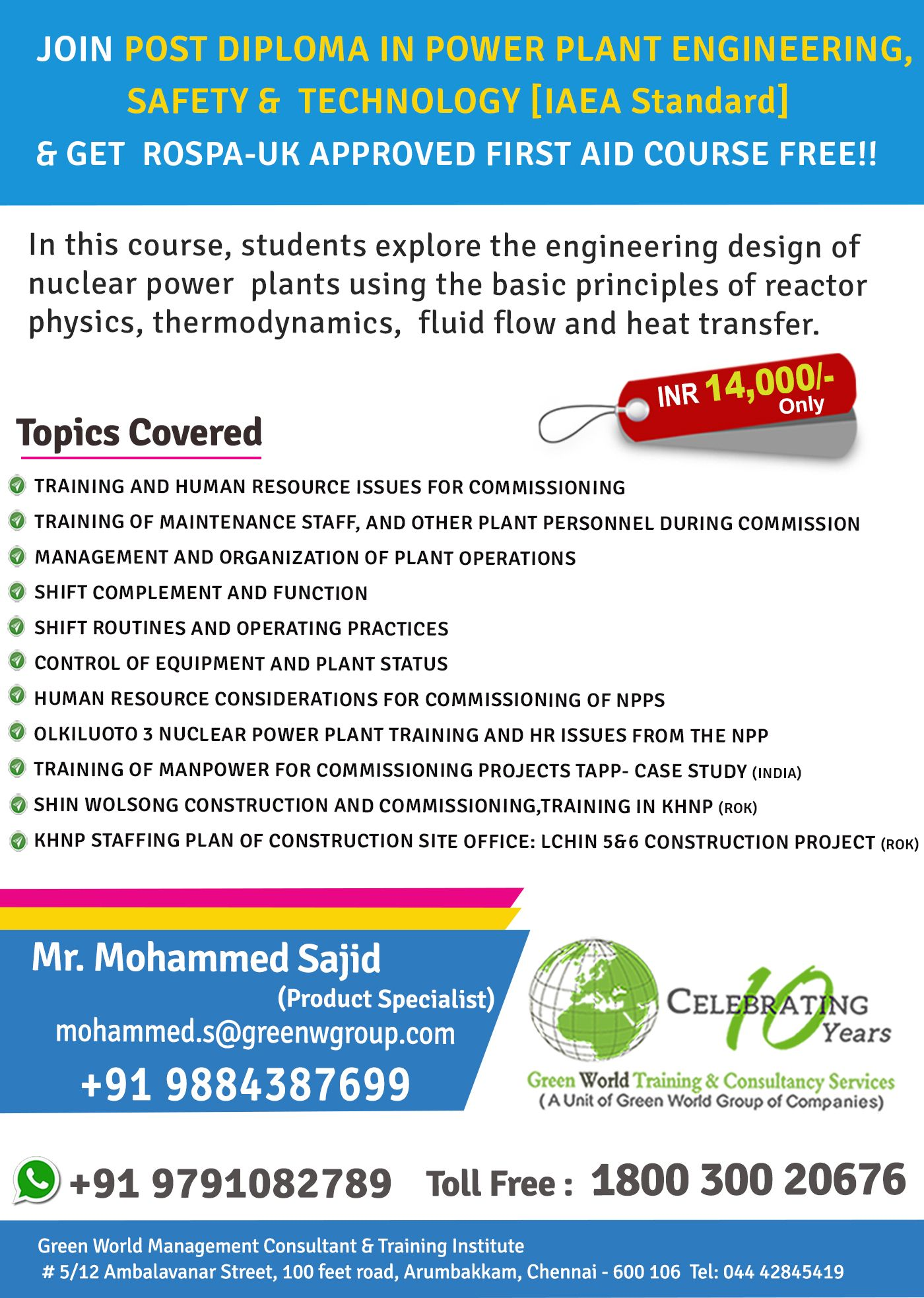 Pin By Green World On New Offer For Post Diploma In Power Plant Engineering Safety Course In India Safety Courses Power Plant Thermodynamics