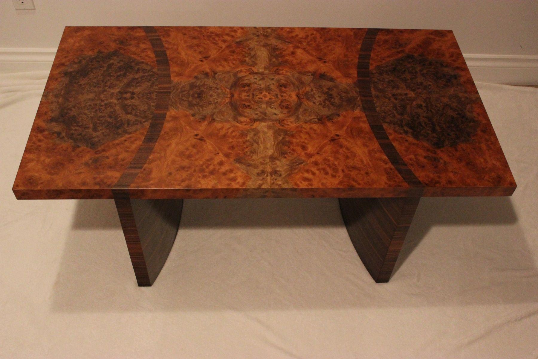 Burlcoffeetable custom walnut burl coffee table by