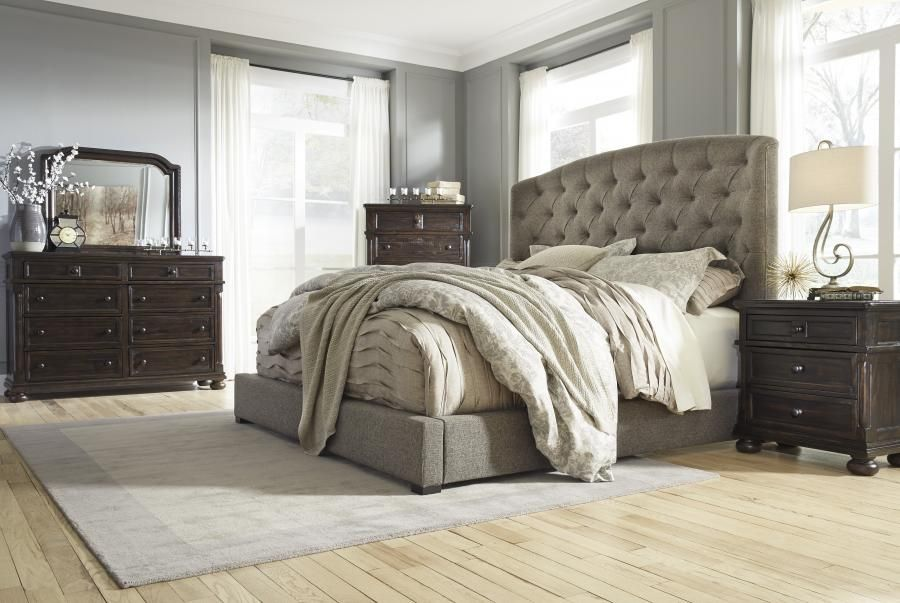 Ashley B657 Gerlane Queen Size Bed Upholstered Beds Queen Upholstered Bed