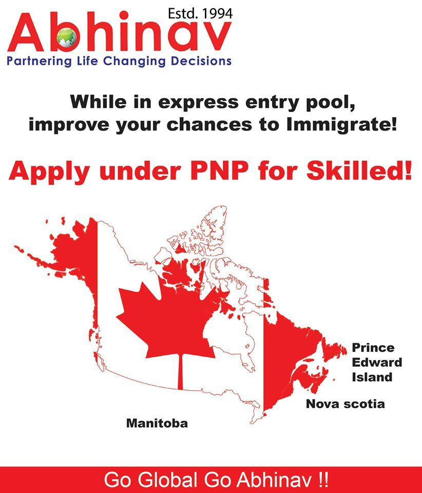 Apply under PNP for skilled immigration Canada http//www