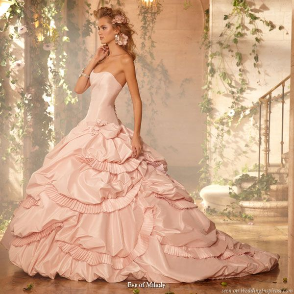Eve of Milady Bridal Gowns | Pinterest | Pink wedding gowns ...