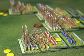 Play testing the Line-Exchange rules #6mm #Baccus #Wargaming