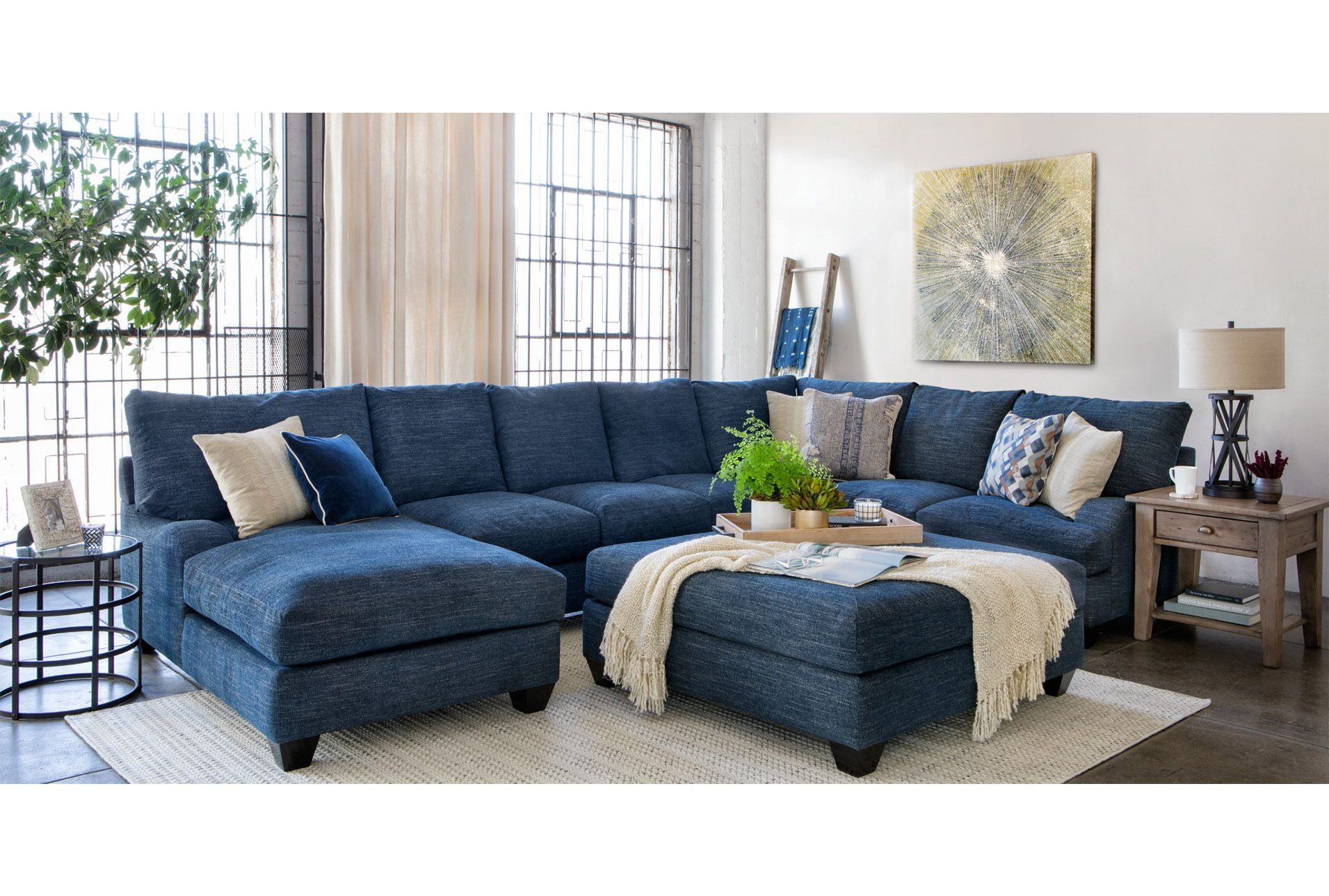 3 Inch Wood Metal Tray Blue Living Room Decor Blue Couch Living Room Navy Blue Living Room