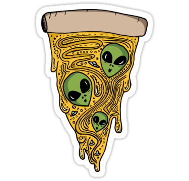 Alien pizza sticker bayray 5