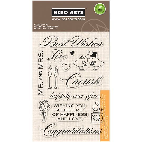 Hero Arts Clear Stamps, Best Wishes