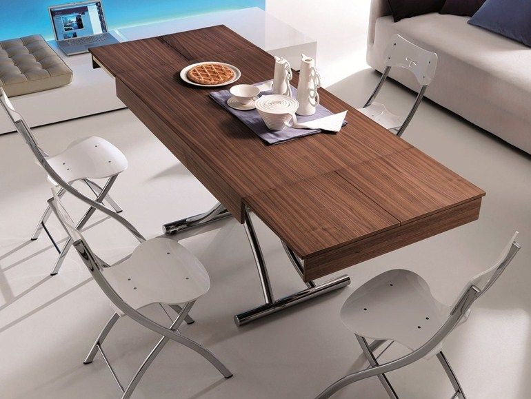 Magic By Ozzio Design.Height Adjustable Extending Coffee Table Wood By Ozzio Design