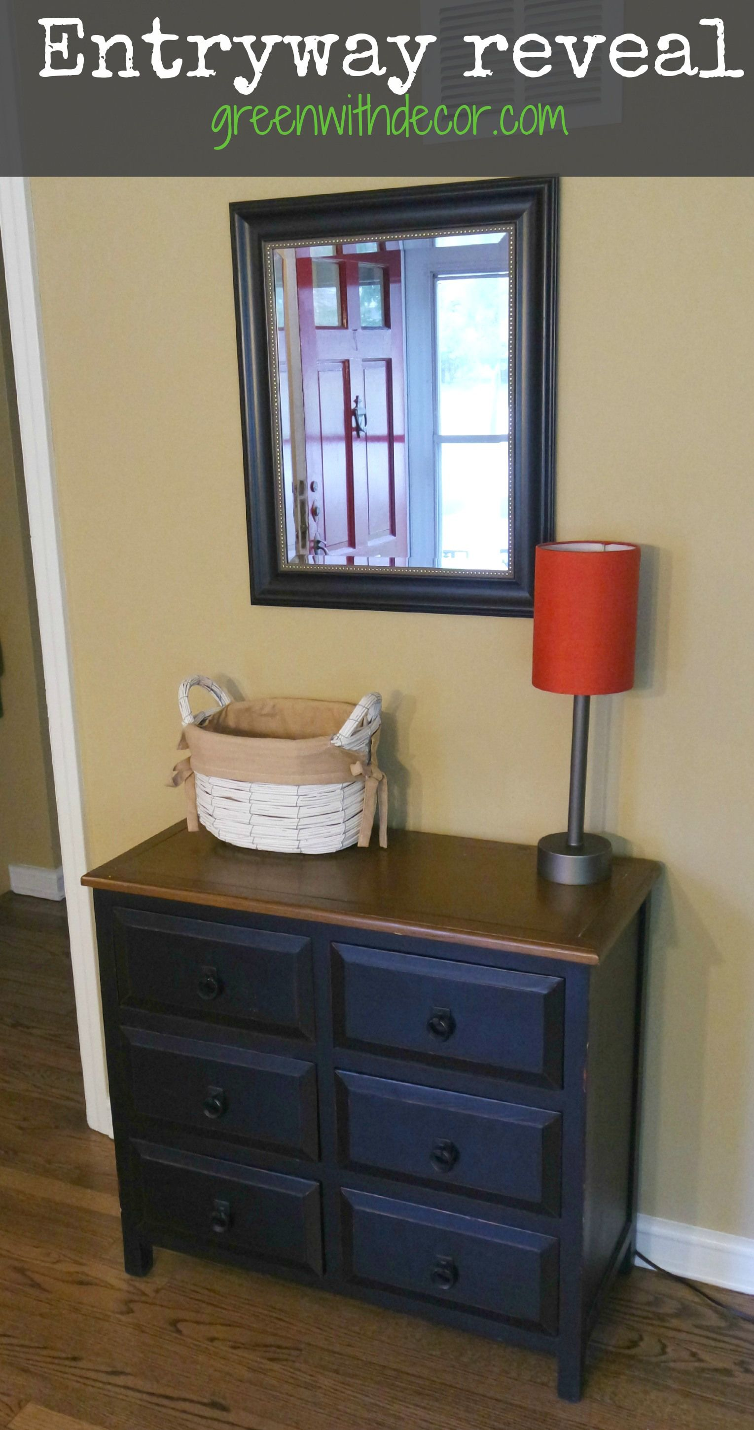 Green With Decor – Functional entryway reveal