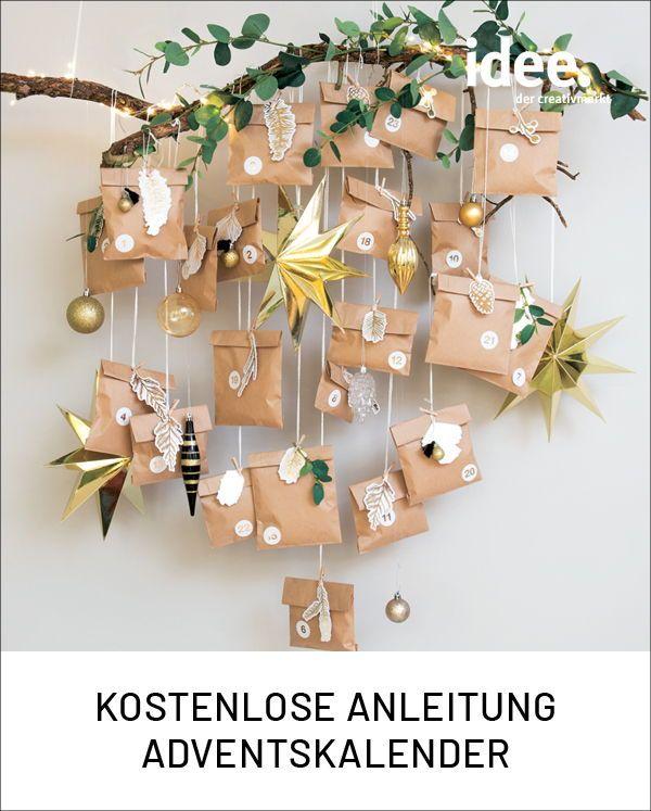 Anleitung Papiertüten Adventskalender