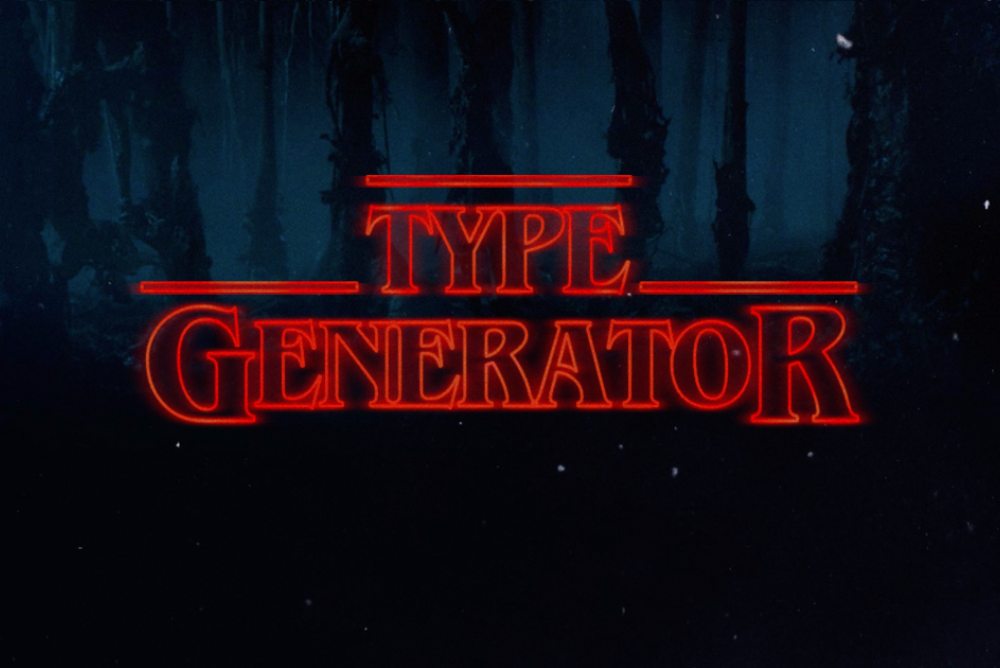 Type Generator Creates The Font From Stranger Things Stranger Things Font Generator Stranger Things Font Stranger Things Alphabet