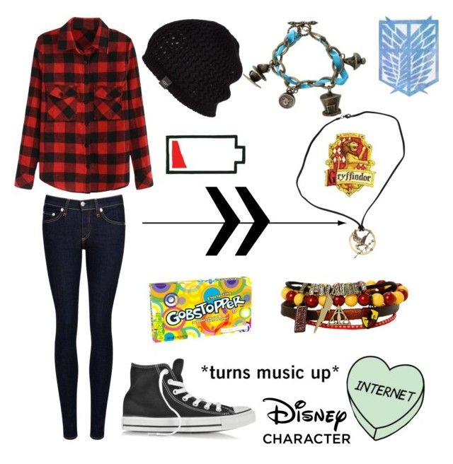 """""""Untitled #688"""" by sarahlavelle8 ❤ liked on Polyvore featuring rag & bone/JEAN, Converse, UGG Australia and Disney"""