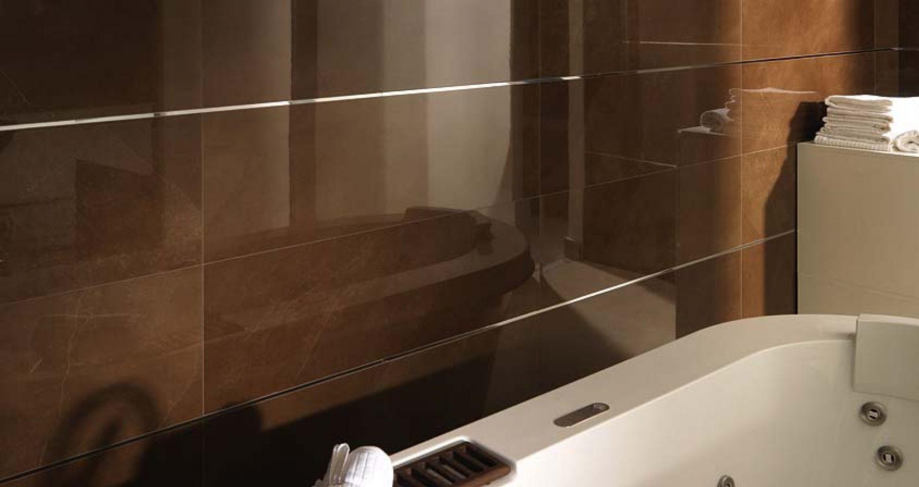 bathroom brown bright azulejos brillantes color marrn para el - Catalogo De Azulejos Para Baos