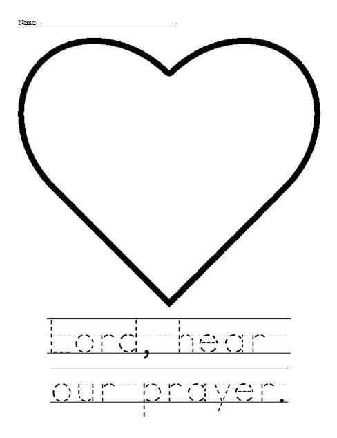 First Commandment Clip Art | Lord, hear our prayer activity sheet ...