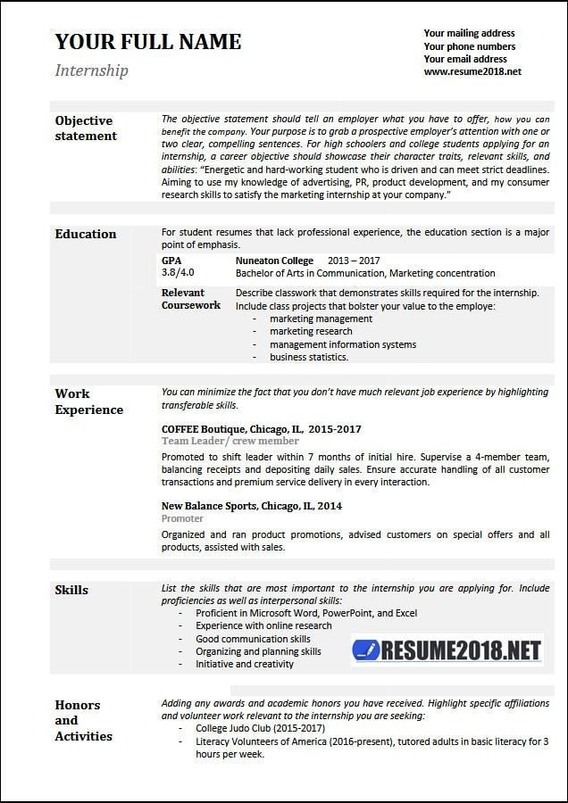 basic resume sles 2018 gentileforda Beautiful Pinterest - resume education section