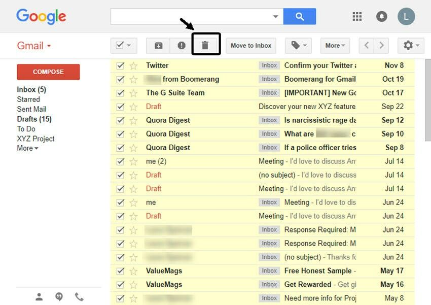 How To Permanently Mass Delete All Emails In Gmail Quickly Virtual Assistant Social Media Discover Yourself
