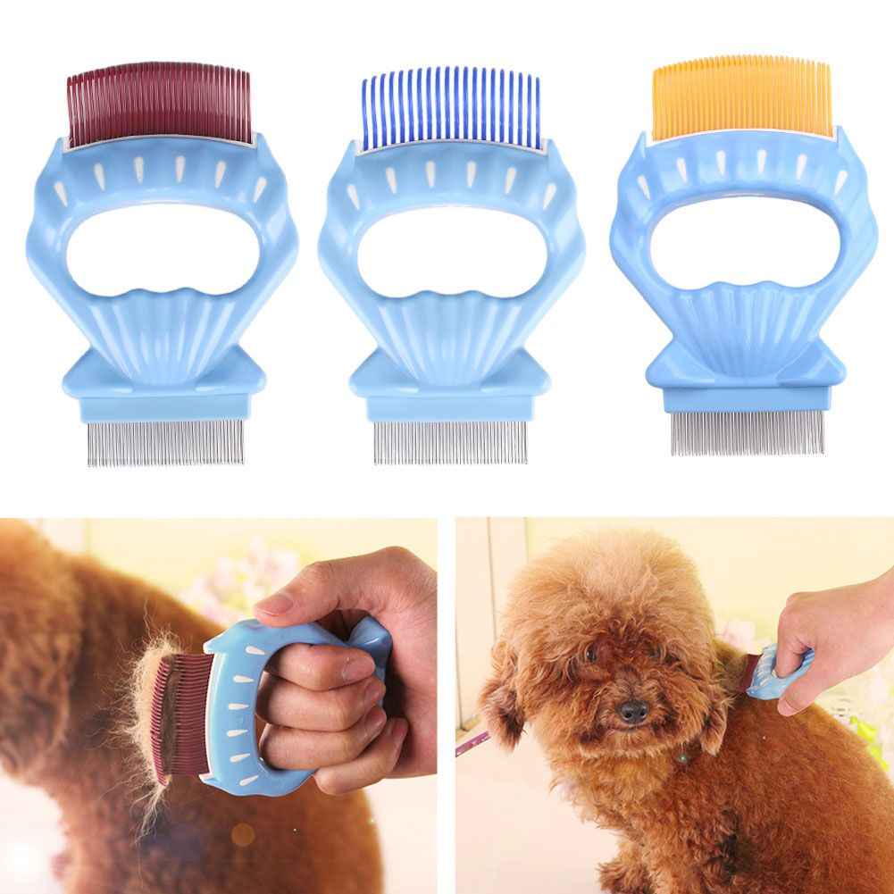 Pet Shell Comb Cat Dog Fur Hair Brushes Grooming Stainless Steel