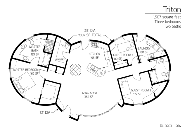 Triton series. 1587 ft sq, 3br/2ba. LOVE the open living area and the HUGE master bath with separate walk-in shower and tub!