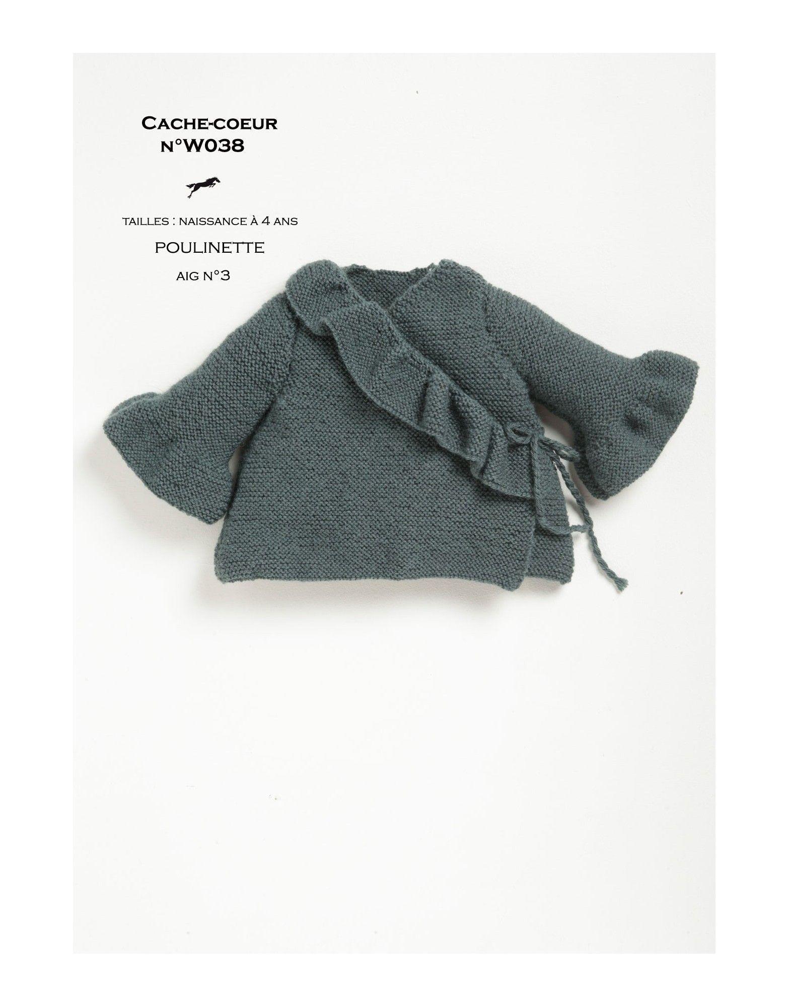 Modèle cache-coeur w038- patron tricot gratuit - Cheval blanc ...