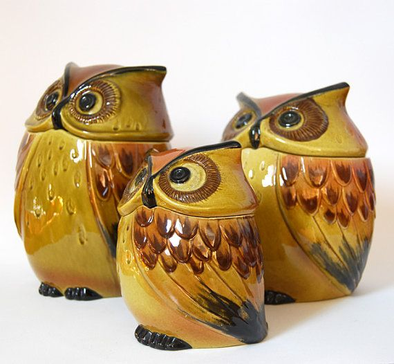 Owl Canisters... What Are They All Looking At?