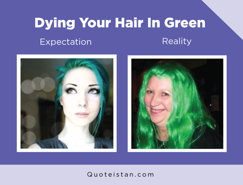 Expectation Vs Reality: Dying Your Hair In Green http://www.quoteistan.com/2016/08/expectation-vs-reality-dying-your-hair.html
