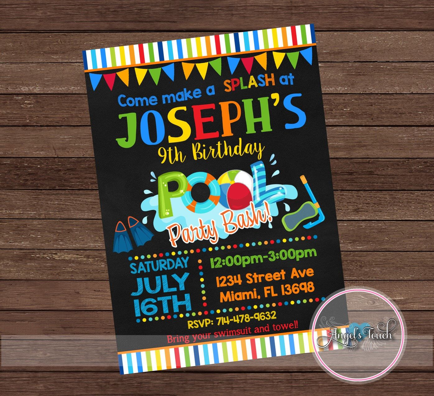 Pool party invitation pool birthday invitation pool birthday pool party invitation pool birthday invitation pool birthday party invitation boys pool party monicamarmolfo Image collections