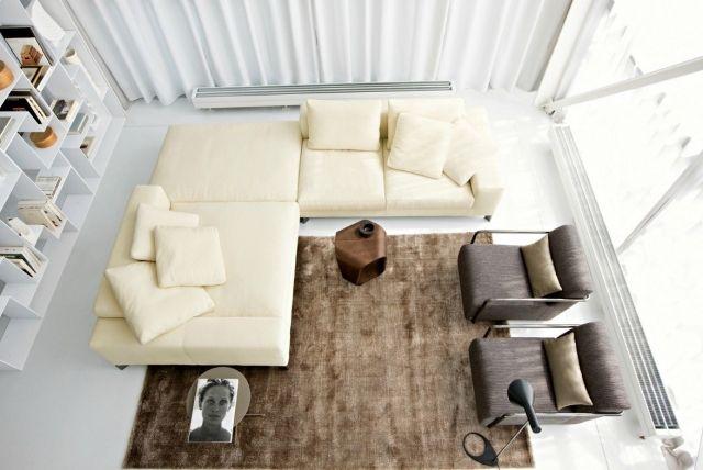 wohnzimmer-modern-einrichten-neutrale-farben-elfenbein-braun-grau - wohnzimmer beige modern