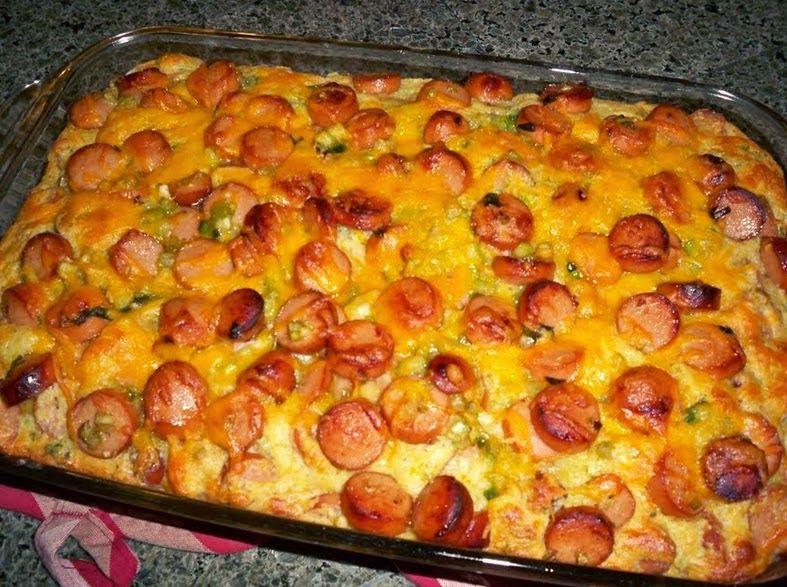 Best recipes in world: Hotdog Casserole