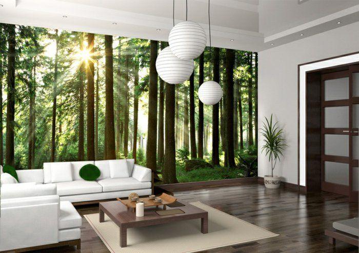 quels stickers trompe l 39 oeil choisir id es en 50 photos lustre blanc poster mural et. Black Bedroom Furniture Sets. Home Design Ideas