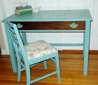 Turquoise Desk W Natural Drawer I Would Probably Do The Drawer In White To Match The Office Turquoise Desk Natural Drawers Desk
