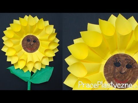 Jak Zrobic Prezent Dla Mamy Slonecznik Youtube Sunflower Crafts Paper Sunflowers Sunflower Paper Craft