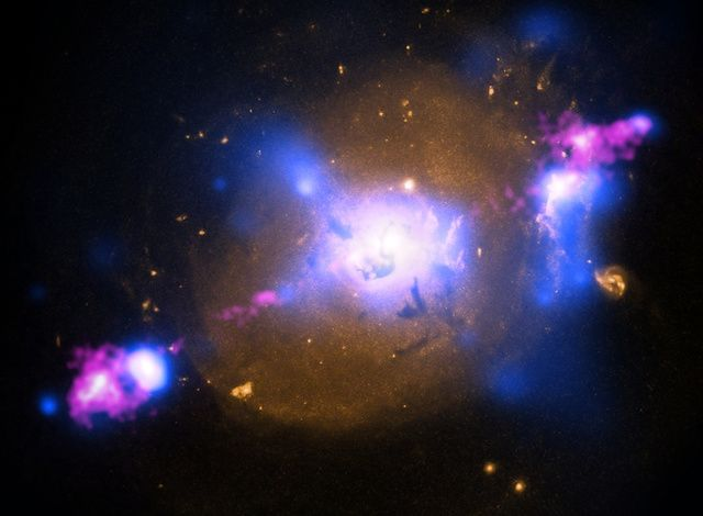 Behold the power of a supermassive black hole