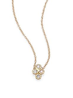 Jacquie aiche diamond 14k yellow gold cluster pendant necklace jacquie aiche diamond 14k yellow gold cluster pendant necklace aloadofball Image collections