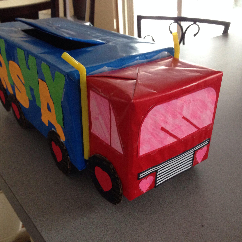 valentine day box: trailer truck! | valentines day truck box