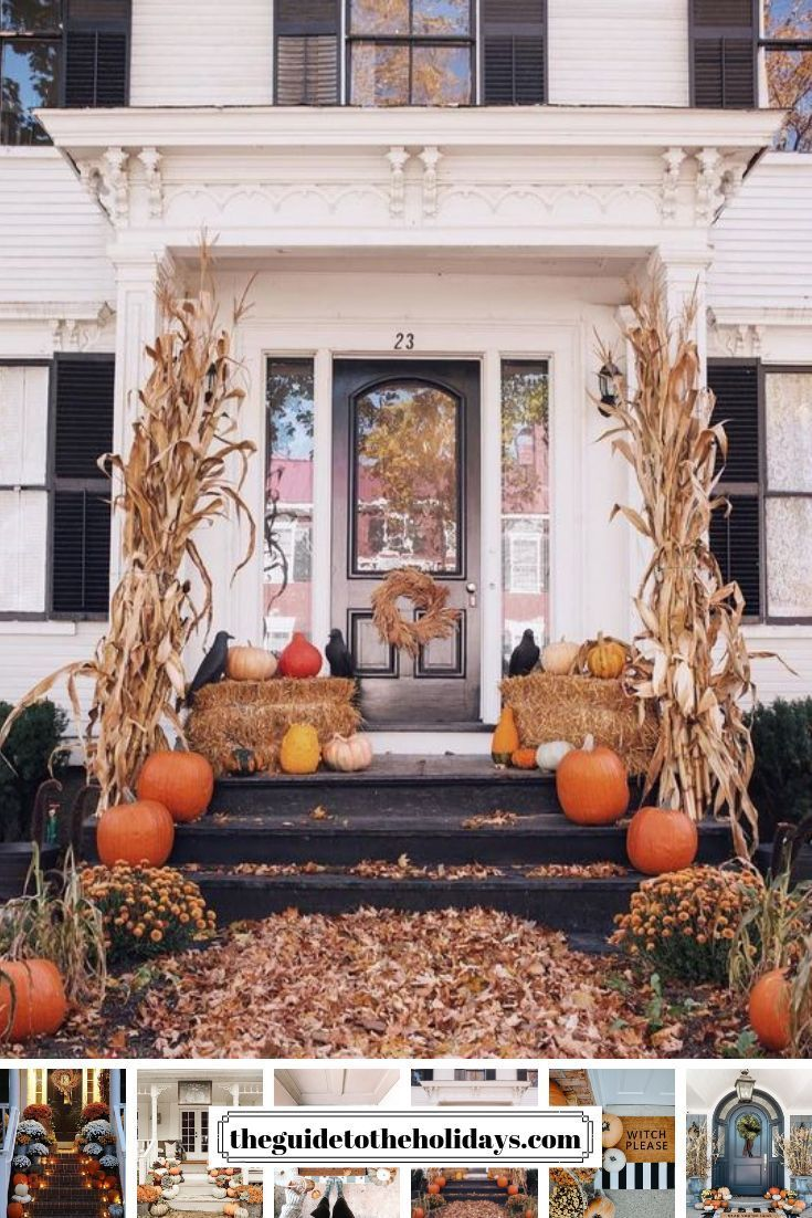 These Cute Fall Porch Ideas Are Guaranteed To Look Stunning From Memorable Doormats To Be Fall Decorations Porch Fall Front Porch Decor Front Porch Decorating