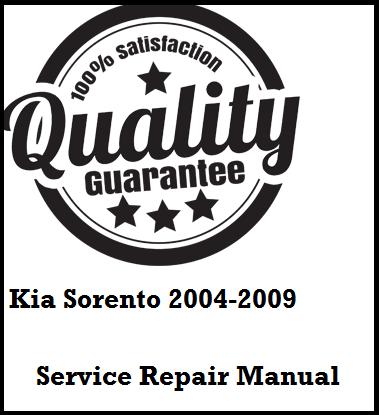 Kia Sorento 2004 2005 2006 2007 2008 2009 This a complete