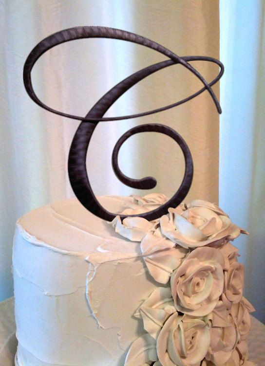 letters for wedding cake the letter c cake topper in chocolate c stands for 5511