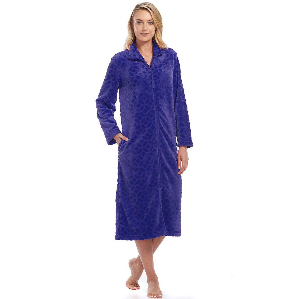 Women's Croft & Barrow® Plush Zip Lounger Robe