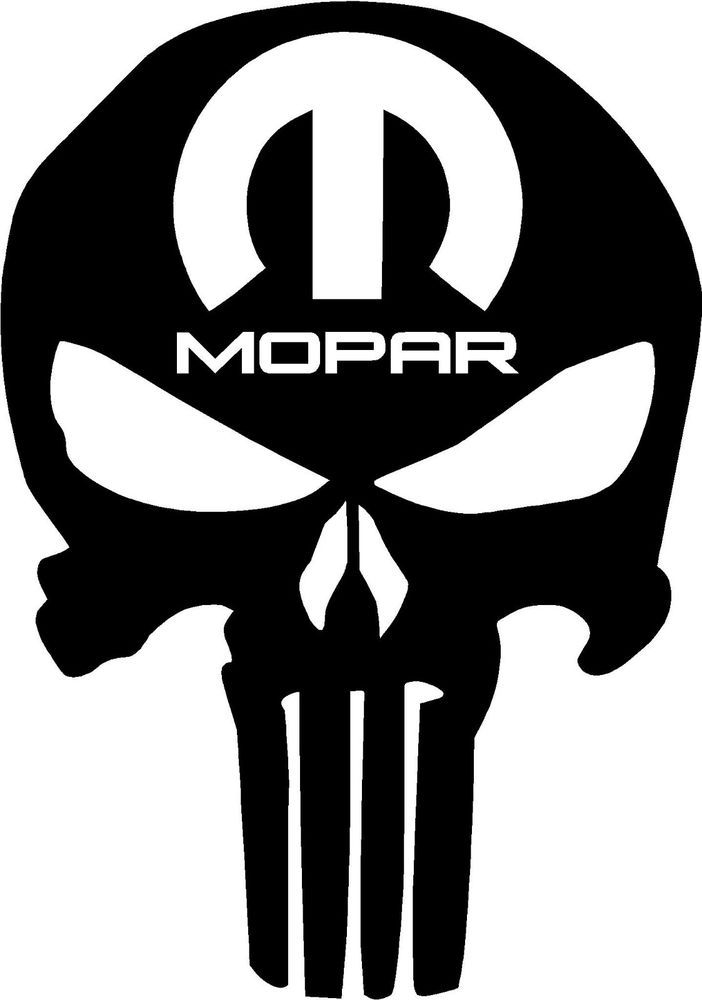 Details About Mopar Punisher Decal Sticker B Dodge Charger