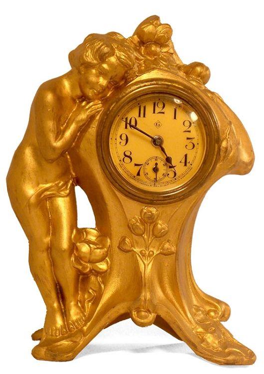Gilbert Art Nouveau-Style Clock – Circa 1910