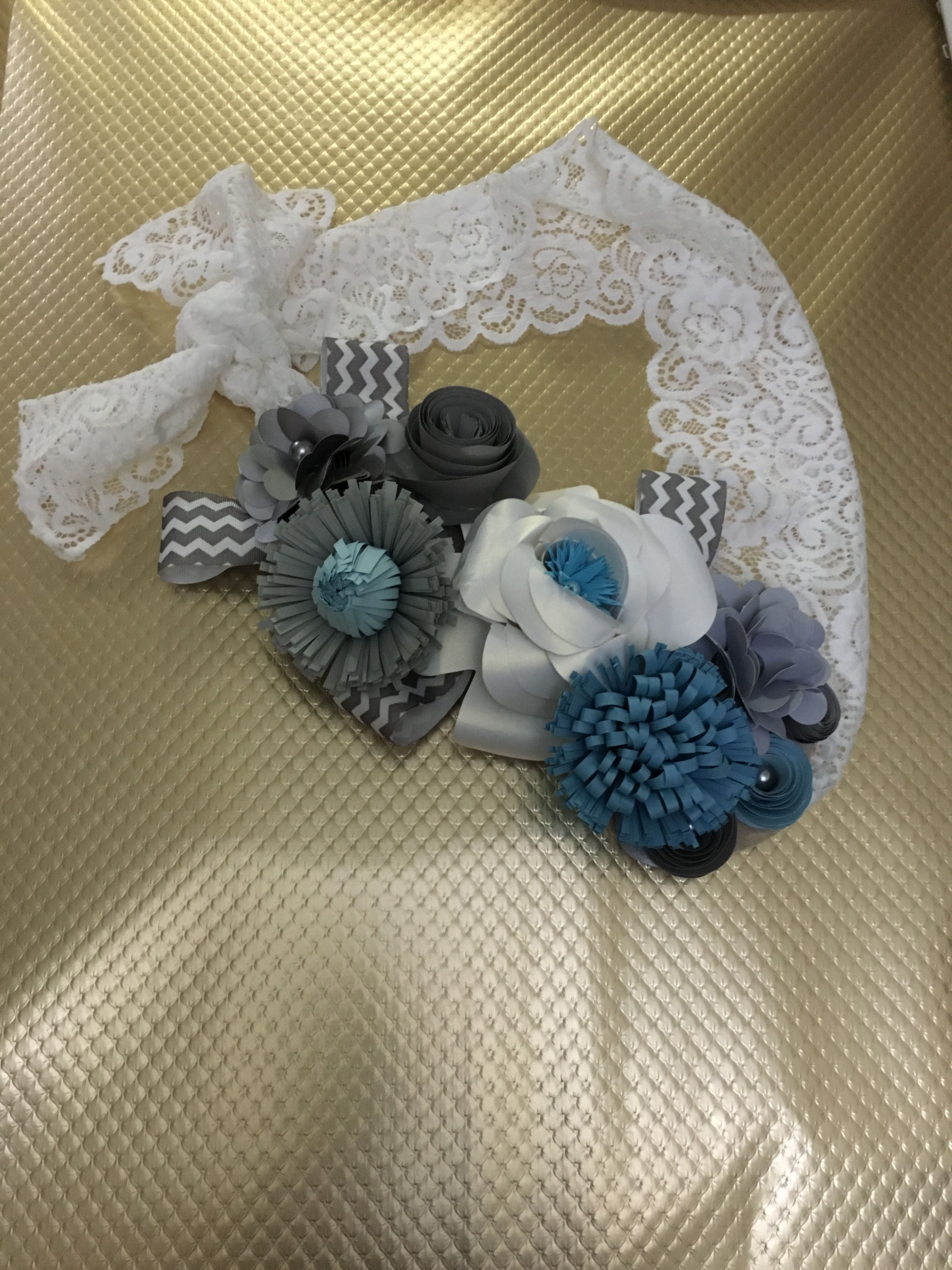Maternity Belly Photo Prop Made With Paper Flowers Baby Shower Mom