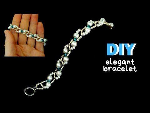 Photo of simple and elegant bracelet. Bracelet making tutorial. Beaded Bracelet