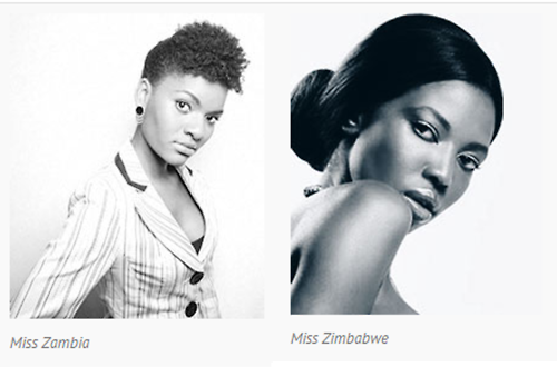 .Contestants in Miss Africa 2014