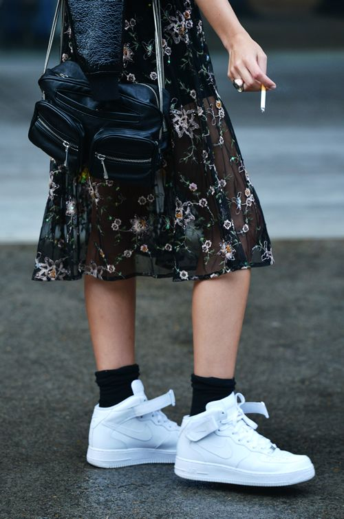 Pin By Neni On Fashion Fashion Nike Air Force Outfit High Tops