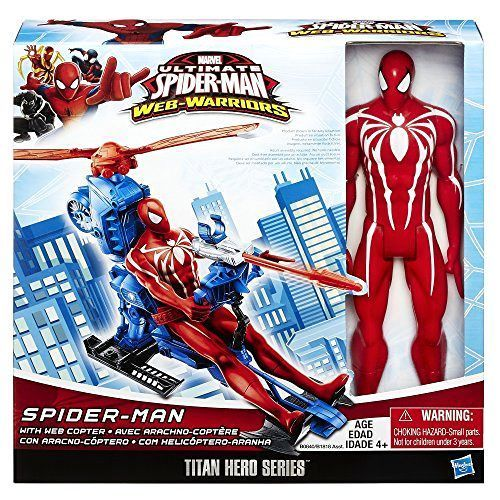 Marvel Ultimate Spiderman Miles Morales Spider-verse Titan Hero Web Warriors NEW