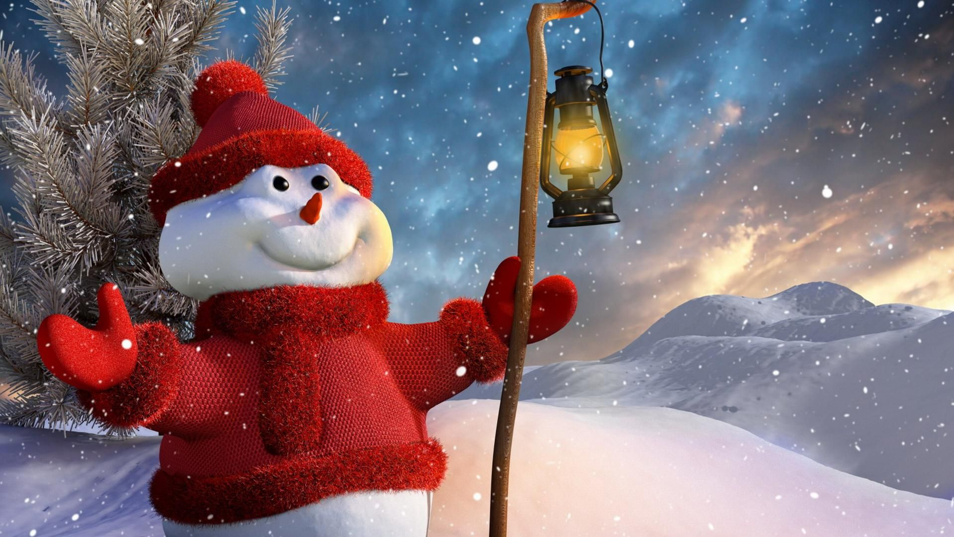 Christmas Winter 1080p HD Wallpaper