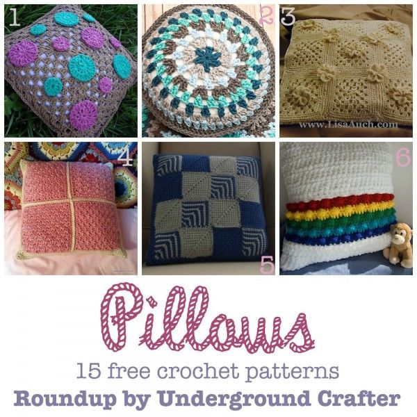 Roundup 15 Free Crochet Patterns For Pillows Curated By