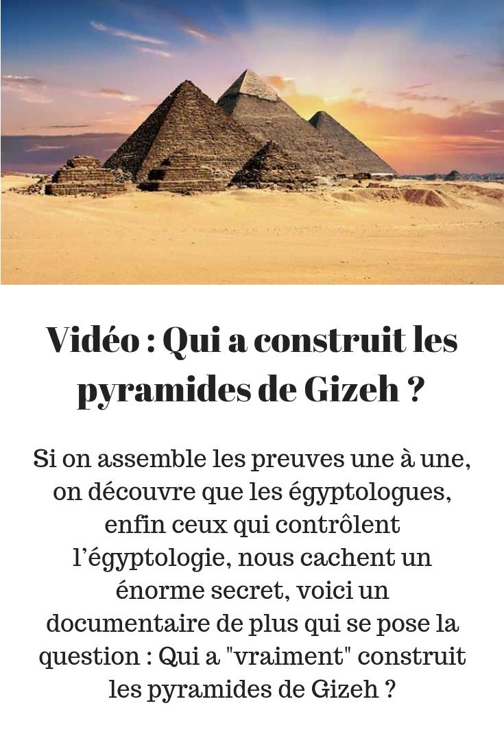 Qui A Construit Les Pyramides : construit, pyramides, Épinglé, Mystère, D'Égypte