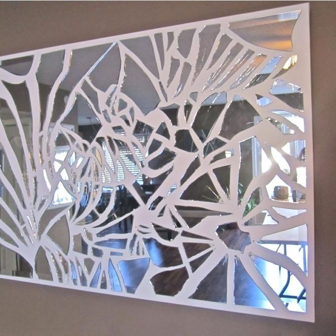 Broken Glass Wall Art 3 Hand Made Mirror By Mosaic Decor Ideas Diy Broken Mirror Diy Mirror Mosaic Broken Glass Art
