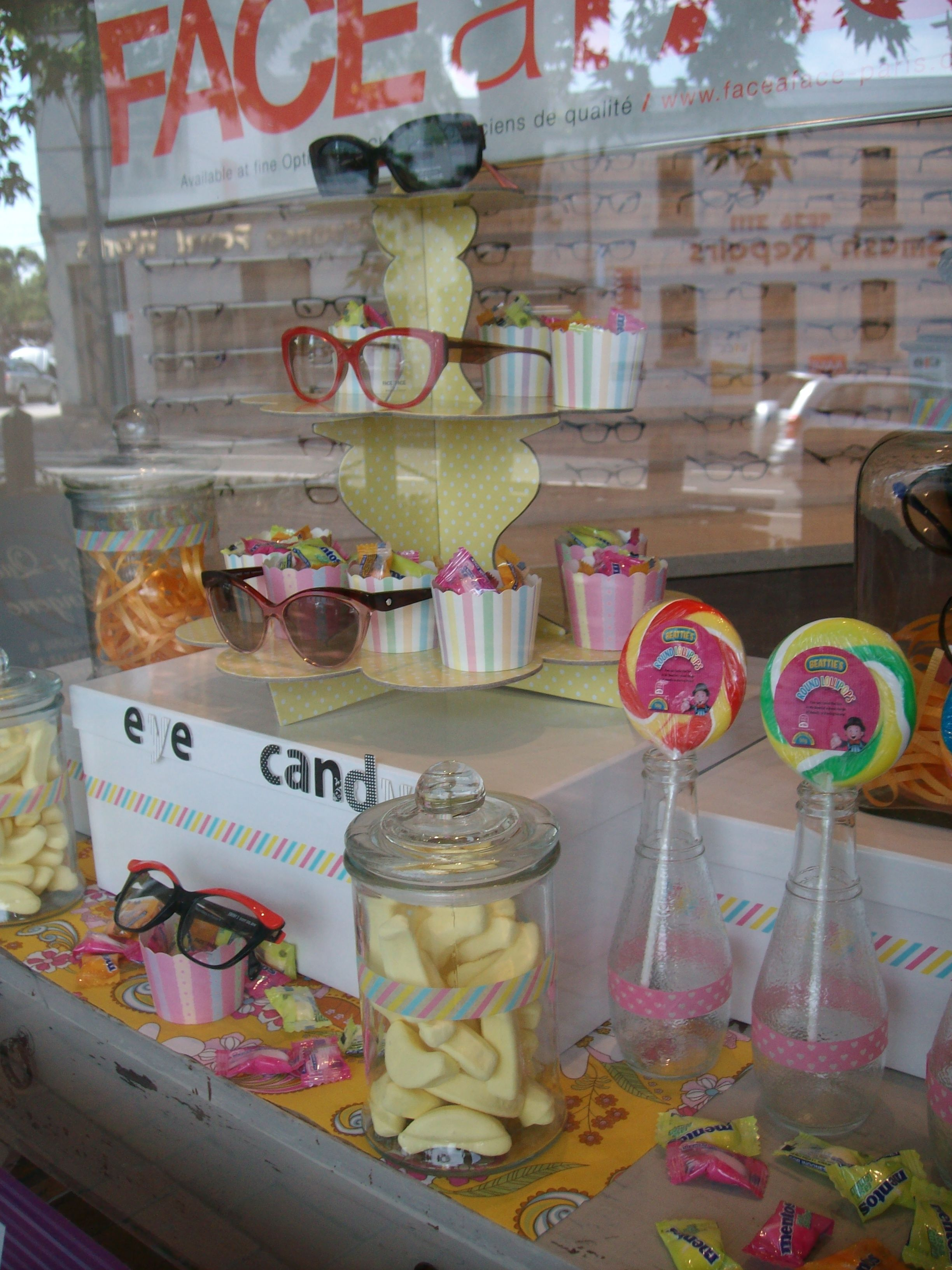 Eye candy window display melbourne australia eyewear