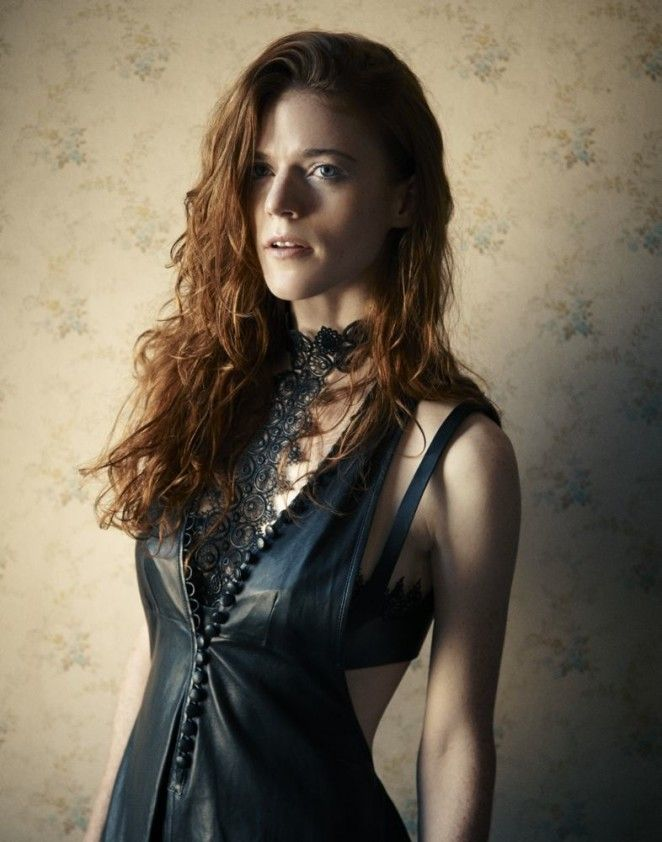 ultrahot actress rose leslie ygritte in a sexy black